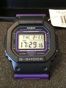 Casio G-Shock DW-5600THS-1DR Retro Series Black & Purple Digital Sports Watch