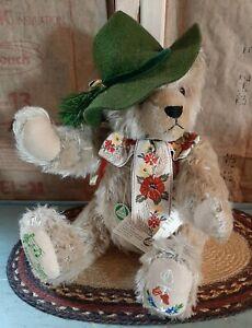 "16"" Hermann The Happy Wanderer Mohair Musical Bear Germany Ltd Ed 3509/13000"