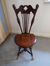 Antique Music Chair glass feet