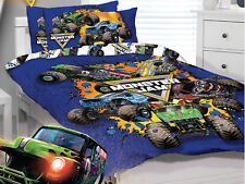 Monster Jam Trucks Home Range -Single/US Twin Bed Quilt Cover Set one pillowcase
