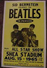 THE BEATLES 1965 SHEA STADIUM 60's CONCERT POSTER art NEW YORK JOHN LENNON RINGO