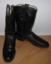 Justin Diamond J Cowboy Girl Western Boots Womens Black Leather *Sharp* 7 B