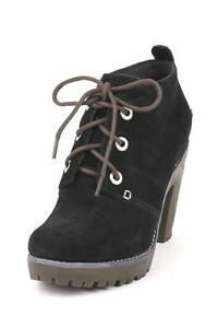 Sperry Top Sider Princeton Ankle Boot Black Suede Laced up lug Ankle Boots Tie
