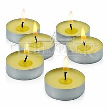 Set of 60 Citronella Summer Yellow Tealight Candles