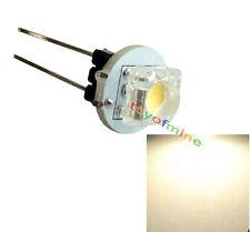 G4 Blanca Bombilla 1 SMD LED Bi-pin Lámpara Base RV Luz Barco Cálida 12V