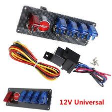 12V Racing Car Boat Engine Start Push Button 6 in 1 Toggle Ignition Switch Panel