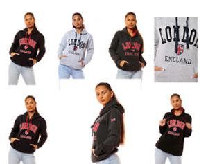 CF033 Unisex London England Hoodie Hooded Sweatshirt 5 Colours XS-2XL