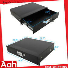 19 Inch Rack Mount 2U Steel Plate DJ Drawer Equipment Cabinet Lockable w/key