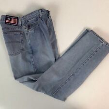 Vintage 1990s Polo Ralph Lauren Light Wash Blue Soft Denim Jeans Pants 29x29