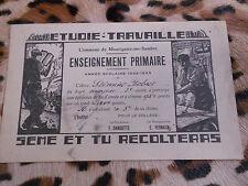MONTIGNIES-sur-SAMBRE : récompense scolaire, année 1932-1933
