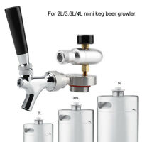 2L/3.6L/4L Mini Spear Tap Faucet CO2 Injector for Keg Beer Growler Homebrew Set
