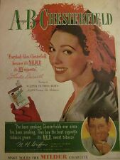 Linda Darnell, Chesterfield Cigarettes, Full Page Vintage Print Ad