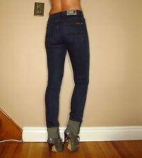 Seven 7 For All Mankind $169 Straight Slim Leg High Waist Gummy Jeans Dark 24 00