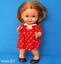 W. Goebel Hummel BAMBOLA 2901 capelli castani lentiggini Charlot Bye vintage doll