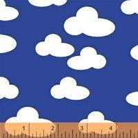FARM~WINDHAM FABRICS~BY 1/2 YD~white clouds on blue