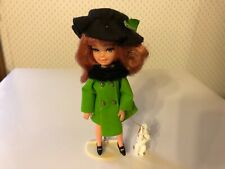 Vintage 1967 UNEEDA TINY TEENS Mod Doll w Dog Stand