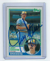 1983 BREWERS Jerry Augustine signed card Topps #424 AUTO Autographed Milwaukee