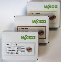 Wago 221 Klemme SET 100x 221-412 50x 221-413 25x 221-415 Kabelverbinder Original