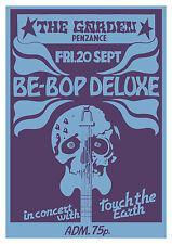 Be Bop Deluxe Bill Nelson Concert Poster, Penzance 1974