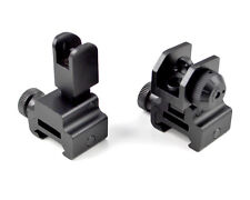 SNIPER® High Profile Front And Rear Flip-up Iron Sight Combo, Black, Anodized