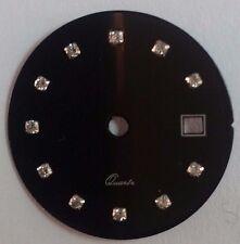 Quadrante tipo Rx nero con zirconi per calibro ETA 956.112-F03.111-Ronda 775