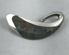 Enrique Ledesma Taxco Mexico Sterling & Agate Large Brooch/Pin