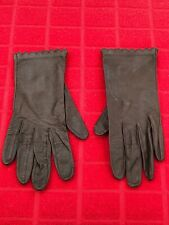 "Vintage Leather ""Miss Aris� Driving Gloves /Brown/Size 6.5-Very Rare"