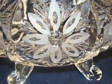Anna Bleikristall 24% Crystal Bowl Dish German Made Footed Cut Flower Design @19