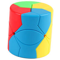 Abnormity Cylinder Magic Cube Puzzle Speed Brain Teaser Intelligent Game Toy