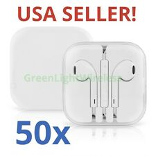 50x LOT Earphones Earbuds Headsets Remote & Mic for Apple iPhone