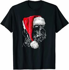 Funny German Wirehaired Pointer Santa Christmas Dog T-Shirt Size S-5Xl