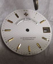 VACHERON CONSTANTIN White Patterned Automatic Swiss Watch Dial with Gold Markers