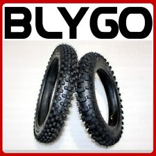 """GL 60/100- 12"""" Front 80/100- 10"""" Inch Rear Knobby Tyre Tire + Tube PIT Dirt Bike"""