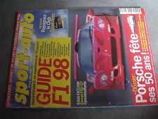 $$q Revue sport auto N°434 Ferrari F50 GT  50ans Porsche  F1 98  Villeneuve