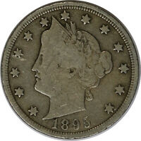 1895 5C Liberty Head V Nickel US Coin Tougher Date