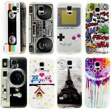 Samsung Galaxy Handy Schutz Hülle Etui Silikon Case Cover Motiv + Folie