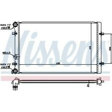 KühlerWasserkühler Motorkühler Autokühler NEU NISSENS (652011)