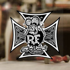 RAT Fink Iron Cross Sticker ed Roth Hot Rod autocollante ADESIVI 100mm