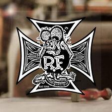 Rat Fink Iron Cross Sticker Ed Roth Hot Rod Autocollante Aufkleber 100mm