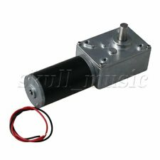 DC12V Low Speed 80rpm Worm Gear Motor Geared Motor Output Shaft Dia 8mm