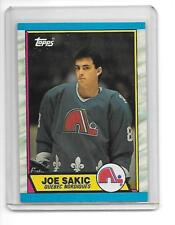 1989-90 Joe Sakic Quebec Nordiques Topps Rookie Card #113