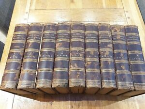 Antique Books Chambers Encyclopaedia set 1874-9  9 volumes includes maps leather