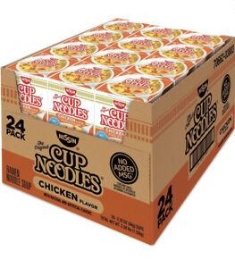24 - Nissin Cup Ramen Noodle Soup CHICKEN  Flavor 2.5 OZ (Pack Of 24