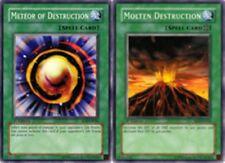 Meteor of Destruction SD3-EN026 1st + Molten Destructio  Mint YUGIOH Cards