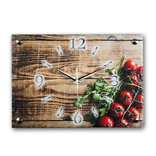 Tomate Design Küchenuhr Funkuhr leise *Naturschiefer* Kreative Feder
