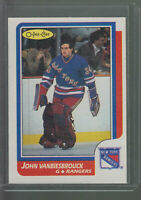 1986-87 OPC O-PEE-CHEE #9 JOHN VANBIESBROUCK RC ROOKIE CARD RANGERS BK$20.00 A