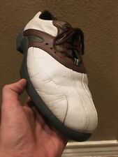Footjoy Superlite Golf Shoes 58015 Men Size 10 W White /Brown Leather Nice Shoes