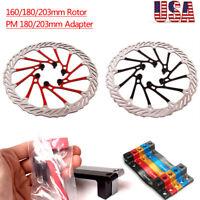 160/180/203mmMTB Road Bike Disc Brake Rotor Bicycle Caliper PM Adapter 180/203mm