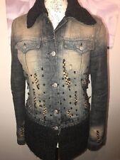 E play ladies denim vintage look jacket size 10/12 M