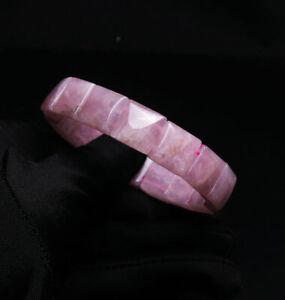 12*6mm Natural Rose Quartz Crystal Quartz Crystal Bracelet AAA